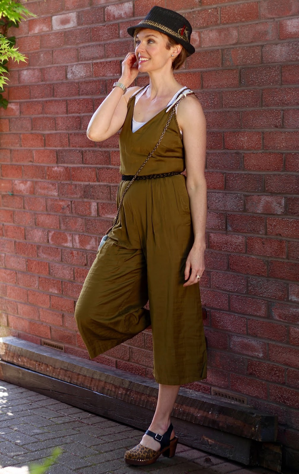Summer Trilby and Green Jumpsuit | Fake Fabulous