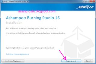 cara instal ashampoo burning studio 2016