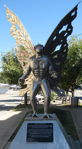 Homenaje a Mothman en Pleasant Point