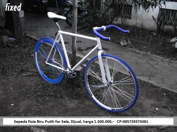 Sepeda Fixie Biru Putih Keren Jogja Grosir Alkes Jogja