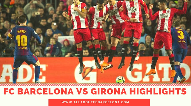 Lionel Messi scored a sensational free kick against Girona in the 6-1 victory at Camp Nou