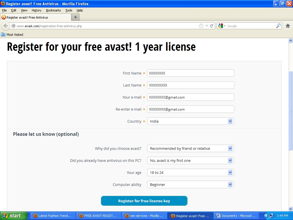 FREE AVAST ANTI VIRUS REGISTRATION TIPS