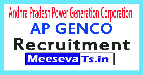 Andhra Pradesh Power Generation Corporation AP GENCO Recruitment 2017