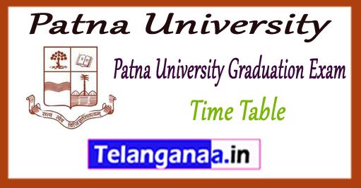 Patna University Graduation B.Com BA B.Sc Time Table 2018 Admit Card