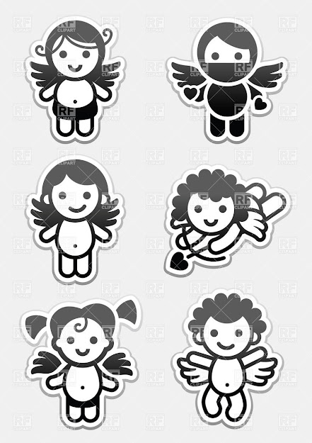 Angels And Cupid Stickers Click To Zoom