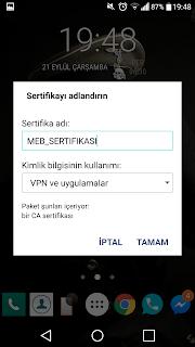 F@tih Projesi Google Sertifika Hatası Android