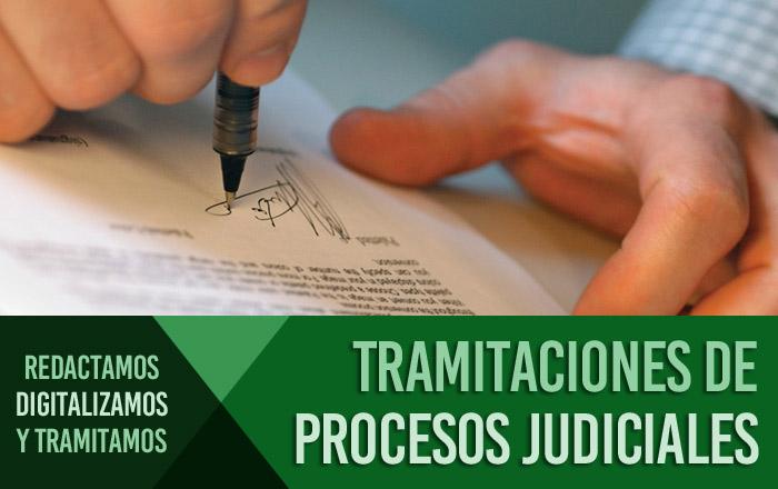 Tramitaciones de procesos judiciales en Barcelona.