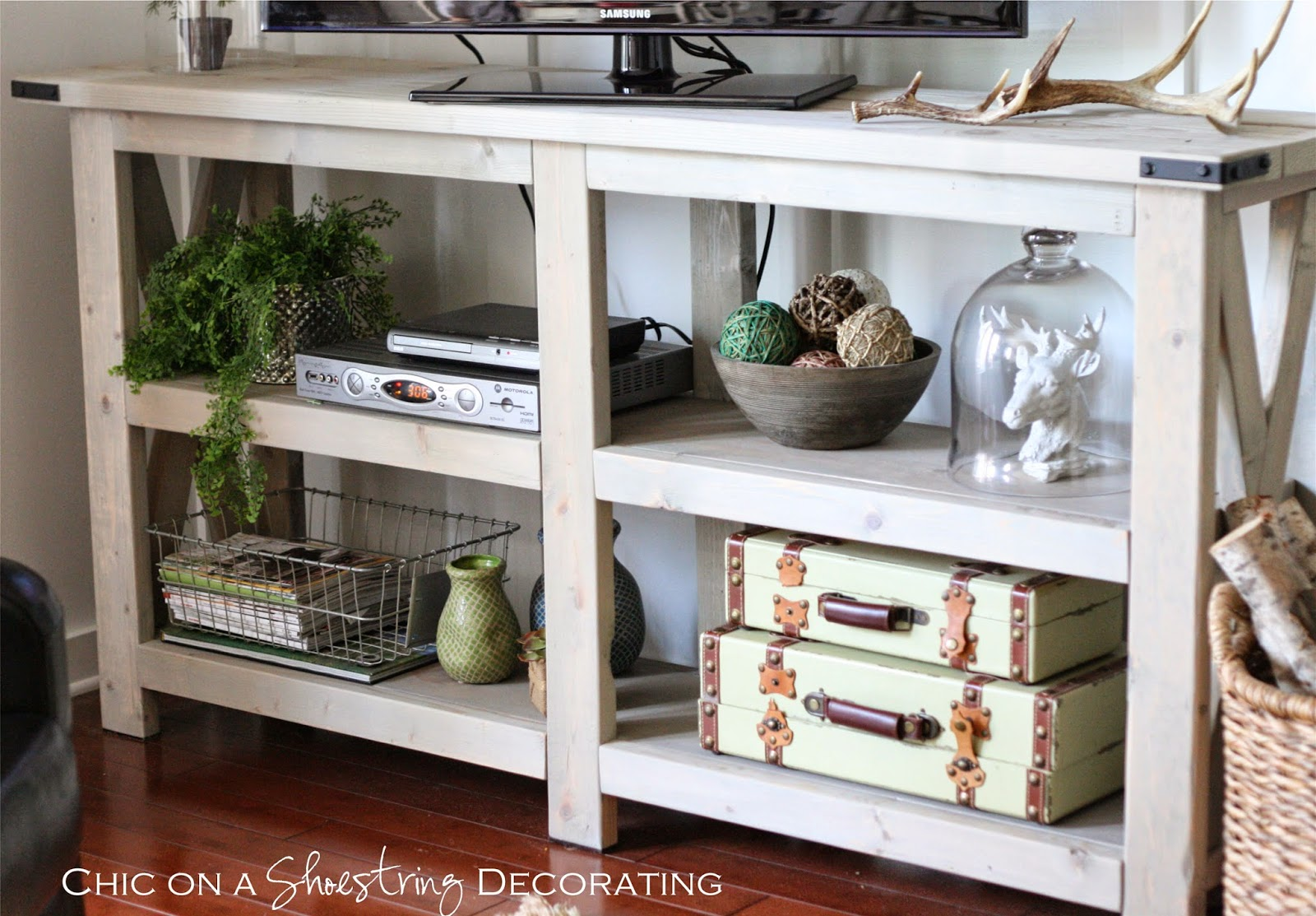 Tv Stand Decor Ideas My Farmhouse Chic Living Room Reveal Home Decor Ideas