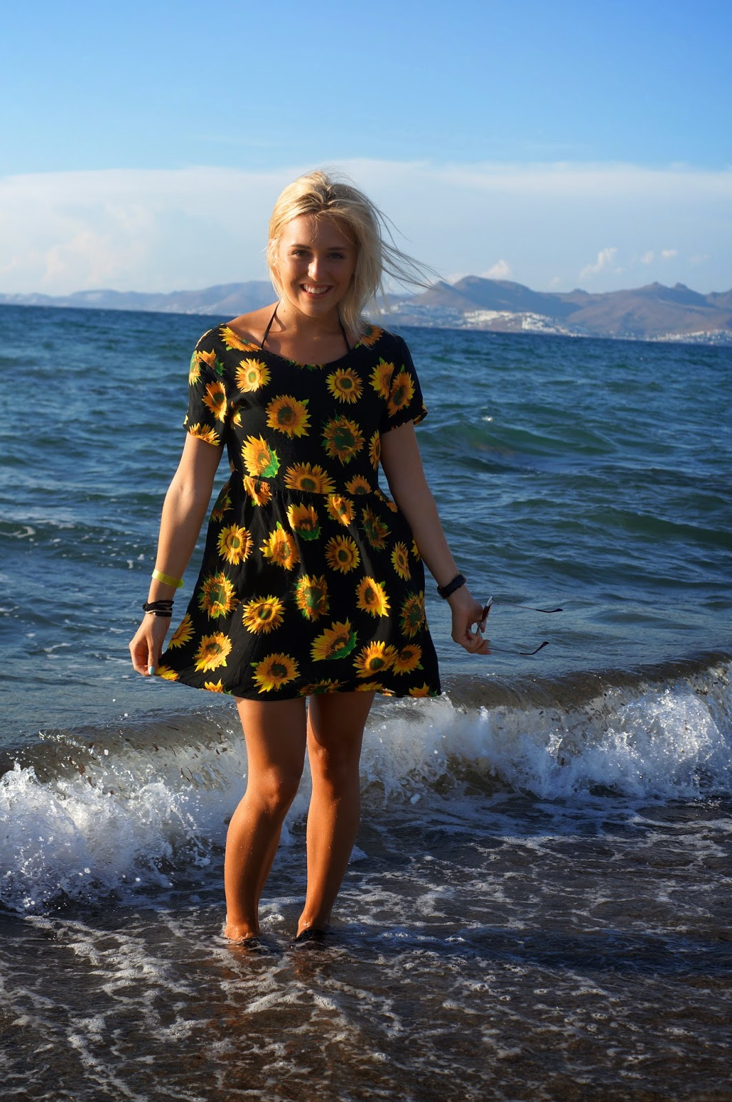 motel sunflower dress
