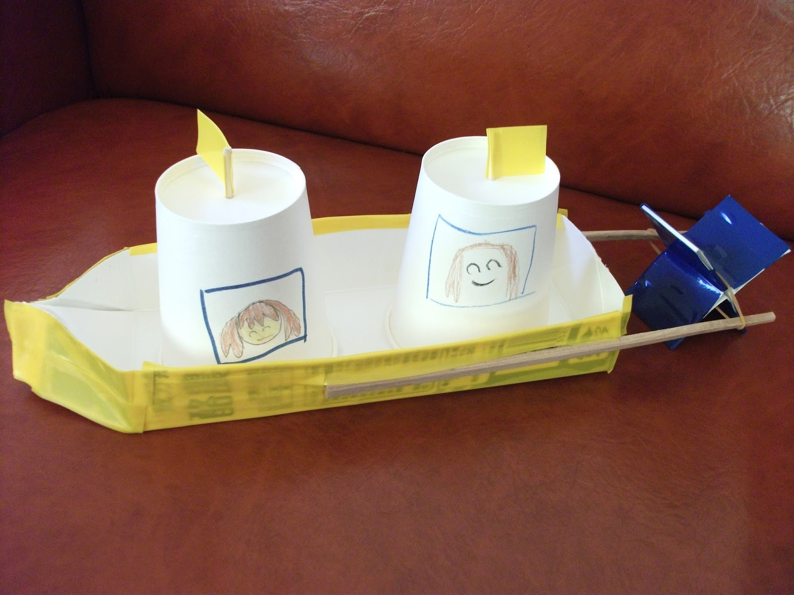 Milk Carton Boat Craft Mother Day Crafts Recycled Materials