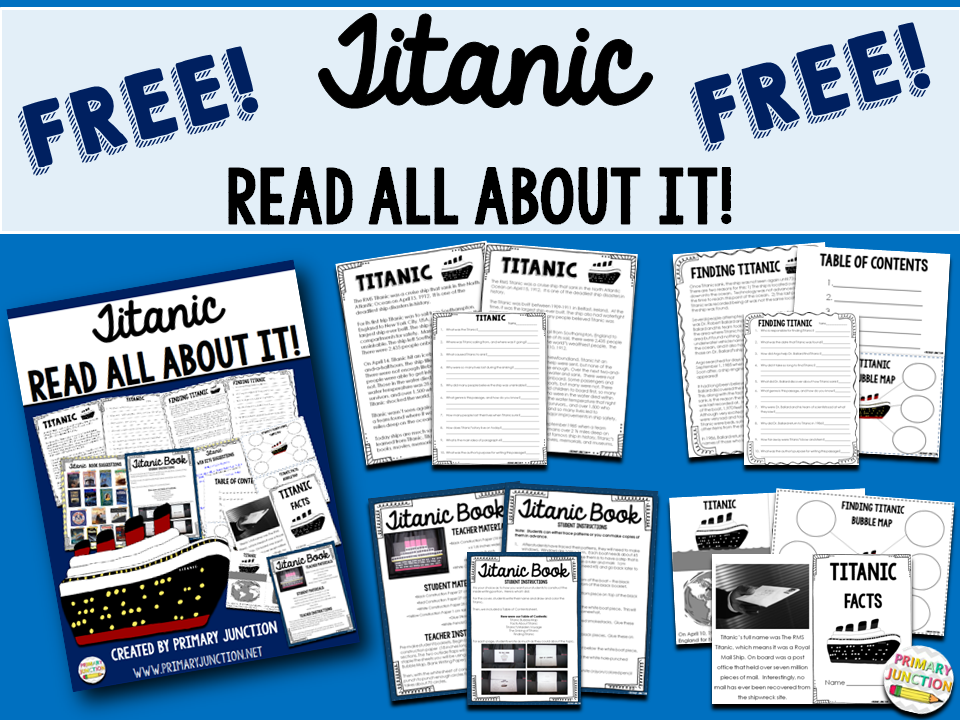 Primary Junction Free Titanic Reading Comprehension Packet