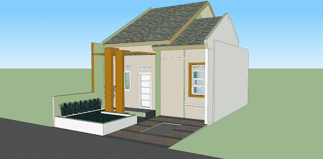 Gambar Rumah Sederhana AutoCAD & Sketchup Type 40/72 (Lengkap dengan RAB)