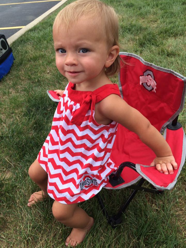 Our friends Jon and Allison brought a mini Ohio State tailgating chair and Summer LOVED it and ran up to it and sat down in it.  sc 1 st  Stuck In The Buckosphere & Stuck In The Buckosphere: Tailgating for Ohio State-Tusla game ...