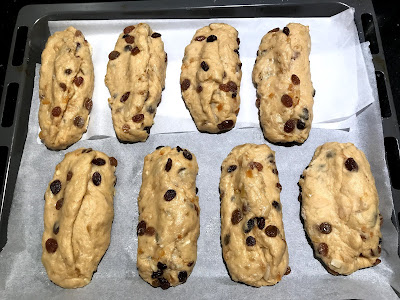 Photo of Mini Stollen ready for their second rise before baking
