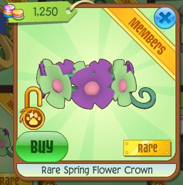 Animal Jam Spirit Blog: Rare Spring Flower Crown & Speed Den ...