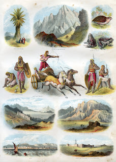 Mount Sinai, Ethan and other images from Brown's Self-Interpreting Family Bible