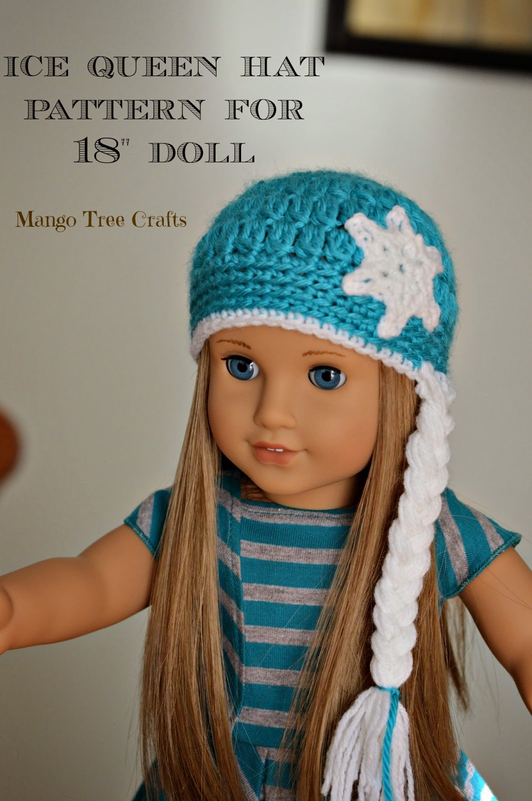 Crochet hat pattern for 18″ American Girl doll | 1600x1064