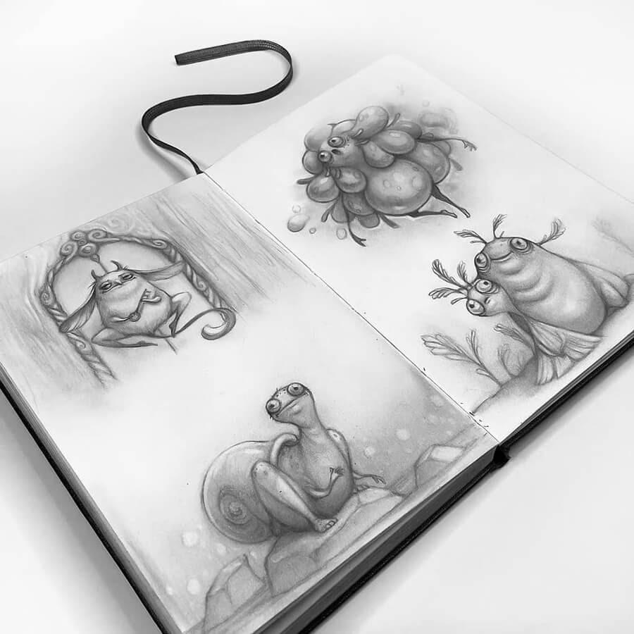 03-Drawings-of-Creatures-Stella-Bialek-www-designstack-co