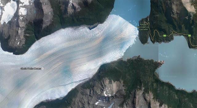Glaciar Perito Moreno por satélite