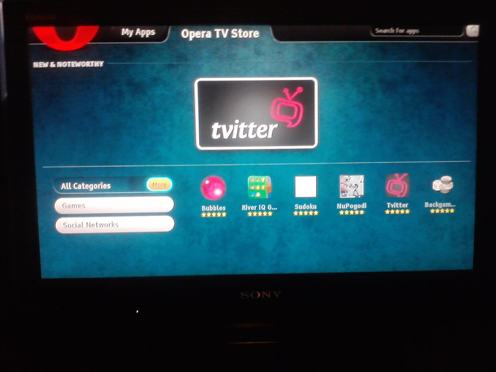 BRAVIA Internet Video : Smart TV from Sony: Opera TV Store
