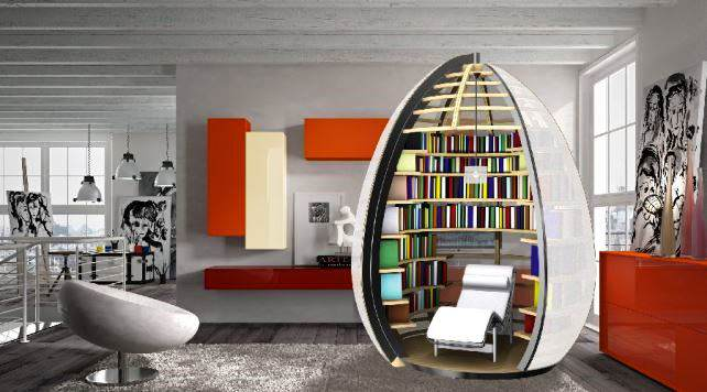 Stylish Modern Creative Unique Bookshelf Design ~ Art Home Design ...