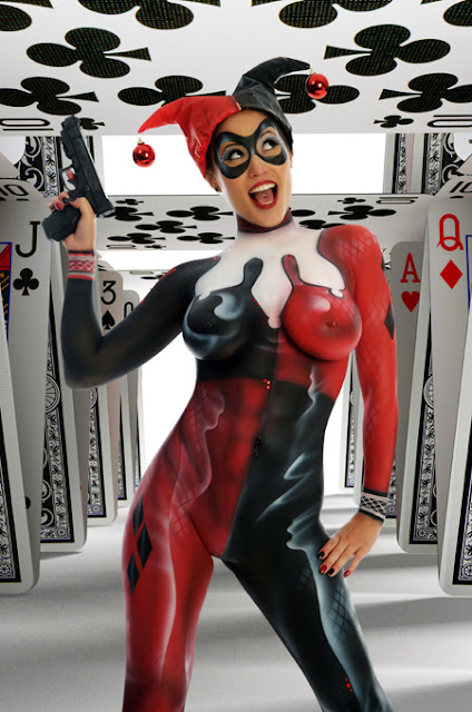 Body Painted Harley Quinn