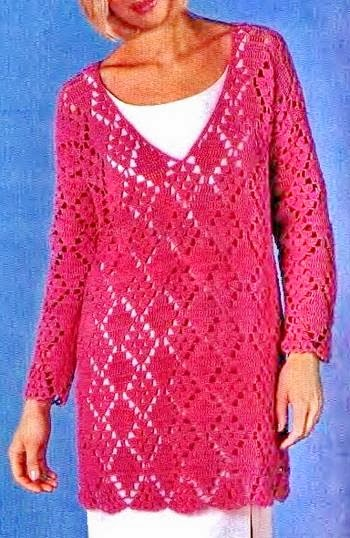 Crochet Sweaters: Crochet Tunic Pattern - Beautiful Simple