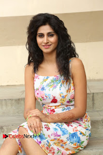 Actress Shamili Stills in Floral Short Dress at Sree Ramaraksha Song Launch 0108