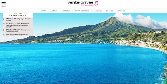 Voyage Martinique avec Vente Privée