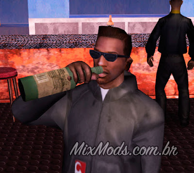 gta sa san mod cleo beber ficar bêbado drink drunk bar