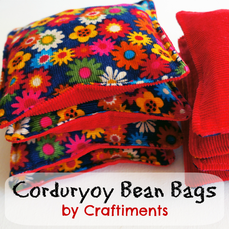Craftiments:  Corduroy Bean Bags