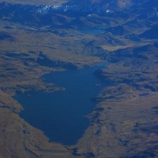 Lagoa nos Andes, Vista do Avião