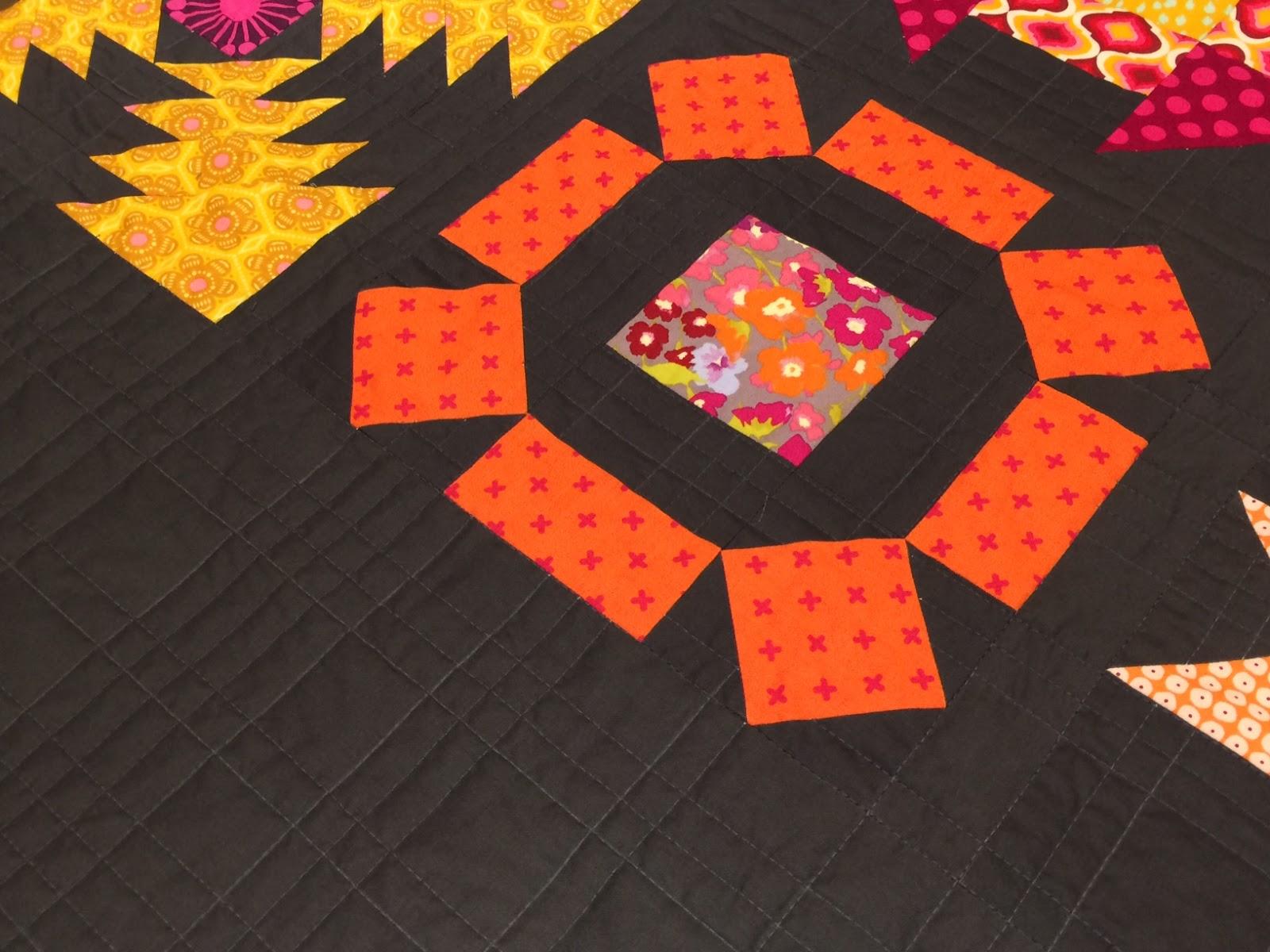 Quiltmanufaktur-Blog: Mein fertiger 6 Köpfe 12 Blöcke Quilt
