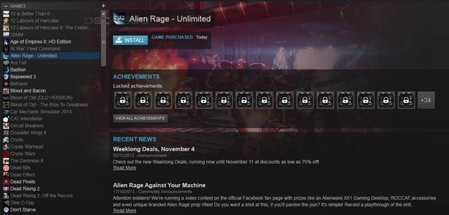 Game Alien Rage Steam