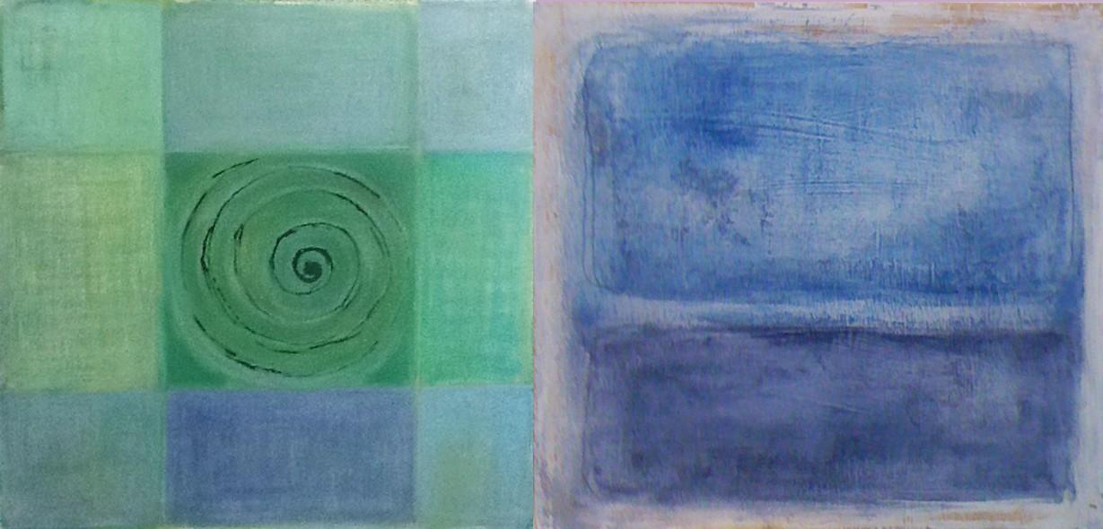 cuadros abstractos, cuadros azules abstractos, pintura abstracta, decorar con cuadros, cuadros para decorar