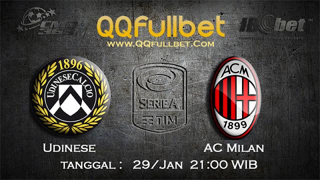 PREDIKSIBOLA - Prediksi Taruhan Bola Udinese vs AC Milan 29 Januari 2017 (Serie A Italia)