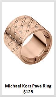 Sydney Fashion Hunter - Rose Gold - Michael Kors Pave Ring