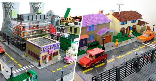 """Springfield de """"Los Simpson"""" recreado a base de figuras Lego"""