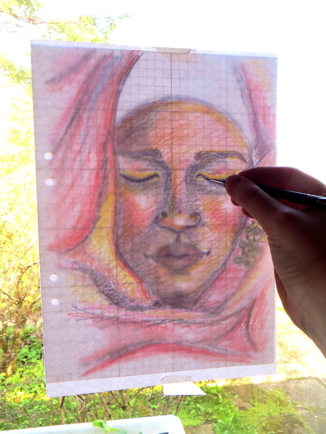 If you like to paint over a pencil sketch, you might want to make the sketch on a separate paper and transfer it onto your painting surface. Here are five cheap or free ways of transferring your sketch.