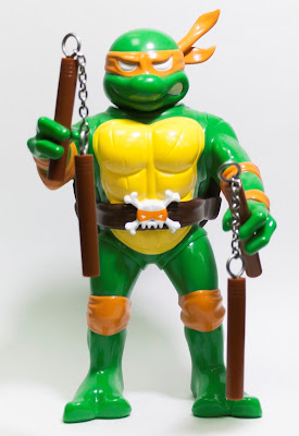 RealxHead Teenage Mutant Ninja Turtles Vinyl Figure Collection by Unbox Industries - Michelangelo