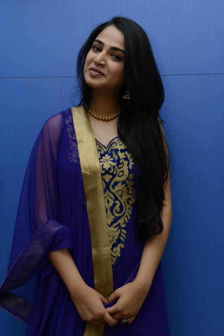 Nikitha anil in blue golden photos at boy meets girl audio launch