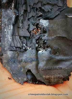 Burnt Voter ID card that helped police in identifying the victim