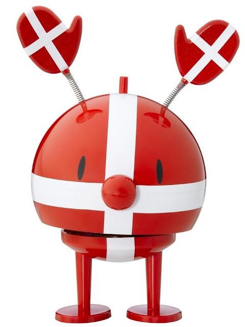 Dansk flag 'Hoptimist' med klaphat