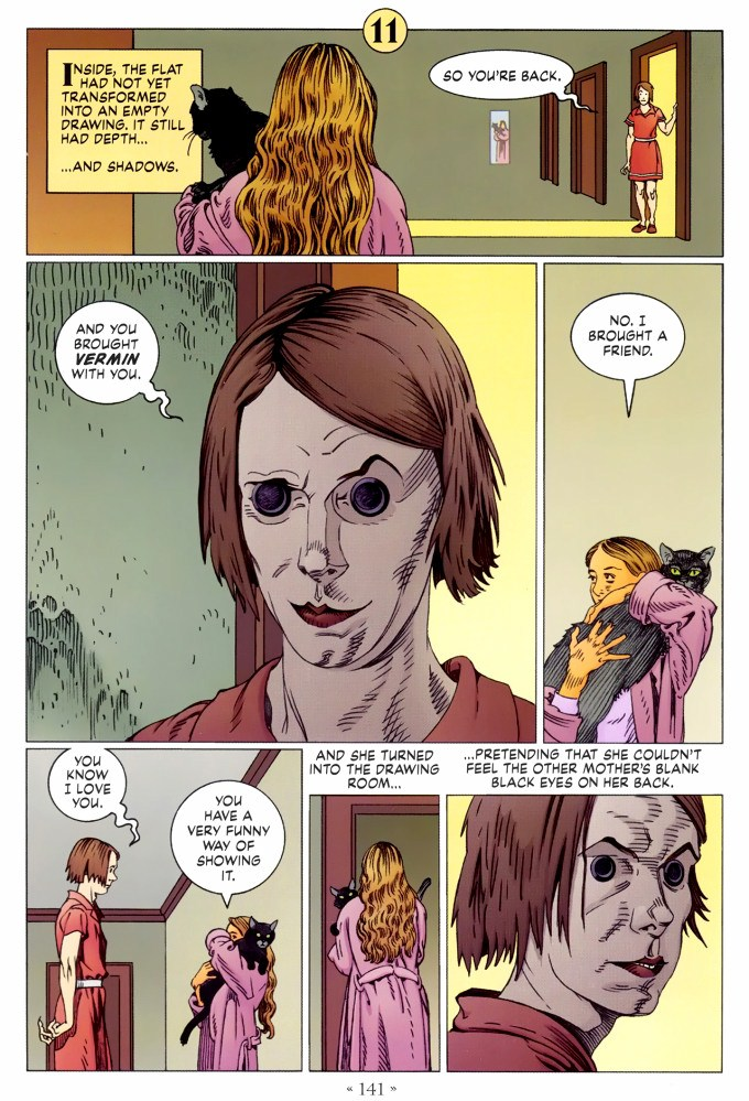 Read page 141, from Nail Gaiman and P. Craig Russell's Coraline graphic novel