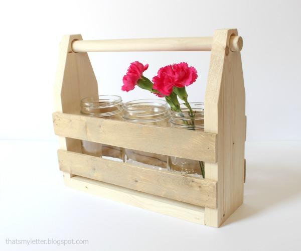 diy mason jar tote natural wood