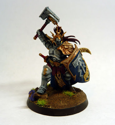 Stormcast Eternal Liberator-Prime, Hallowed Knights stormhost, for Warhammer Age of Sigmar.