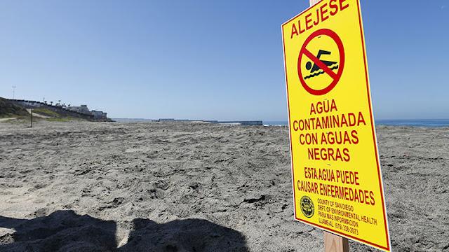 """EE.UU. acusa a México de contaminar sus playas con un """"tsunami de aguas residuales"""""""