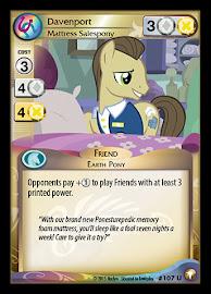 My Little Pony Davenport, Mattress Salespony Equestrian Odysseys CCG Card