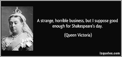 Queen Victoria Day 2016 Canadian Royal:  a strange, horrible business,