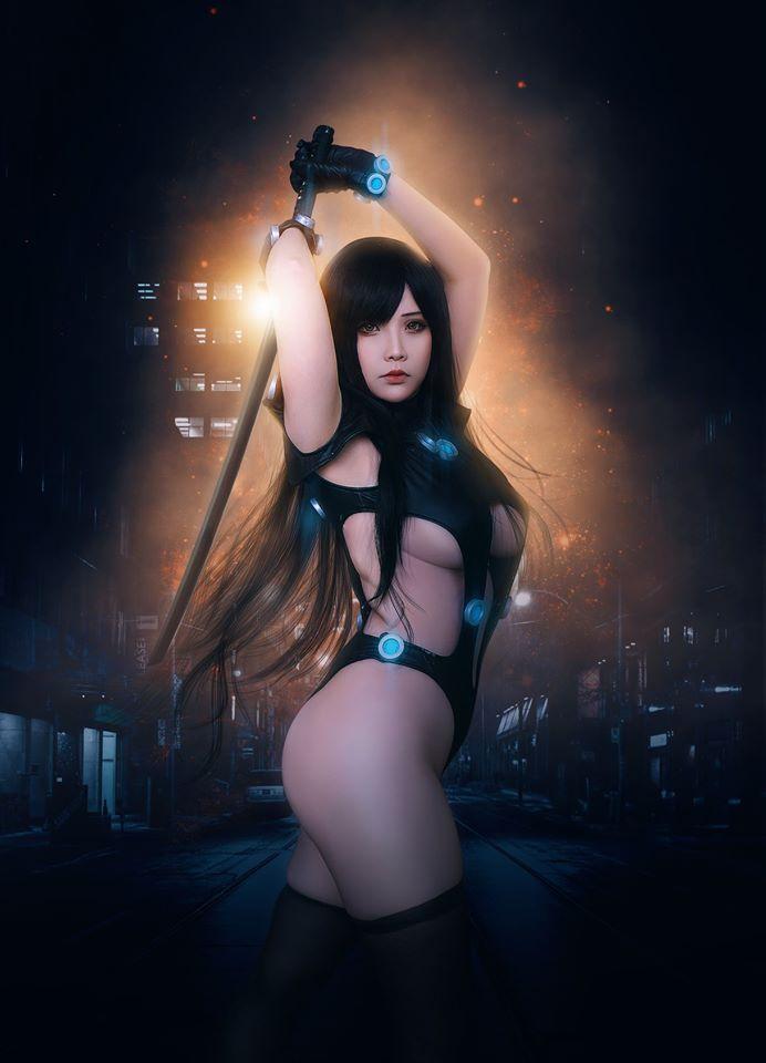 hana bunny sexy gantz cosplay 05